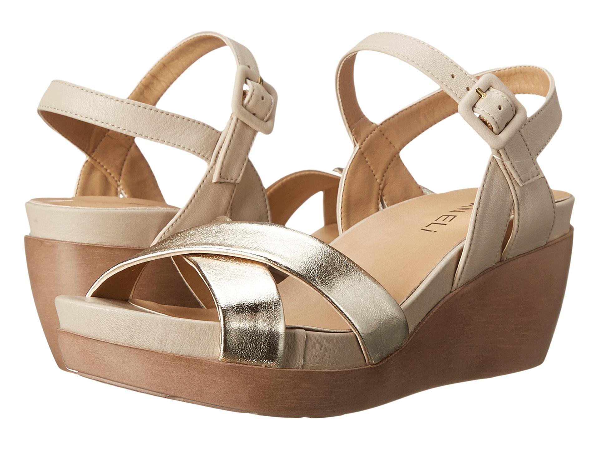 Factory Sale Womens Sandals Vaneli Paulie Platino Met Nappa/Ecru Nappa