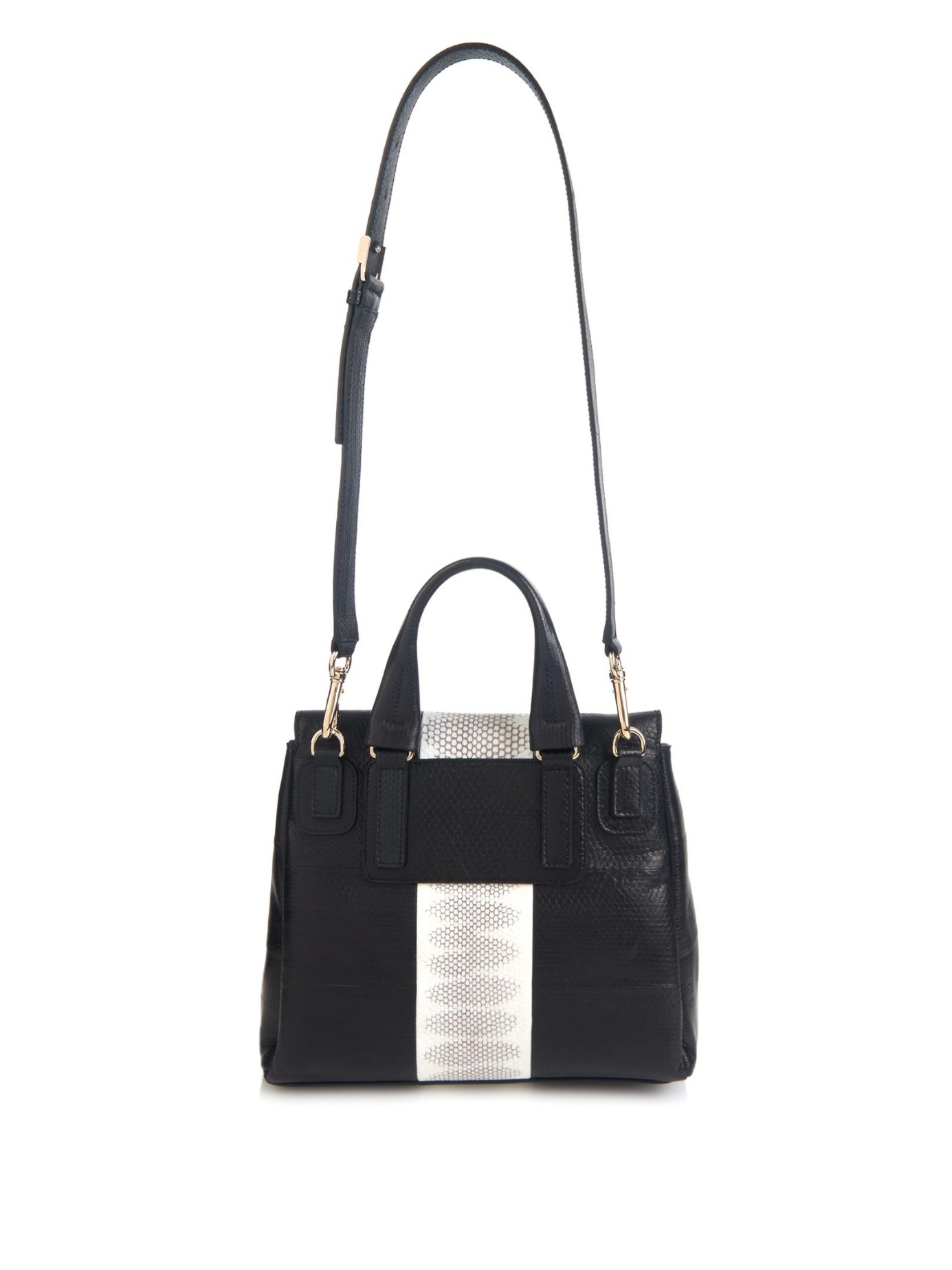 94cbe065fb Givenchy Pandora Pure Small Snakeskin Shoulder Bag in Black - Lyst
