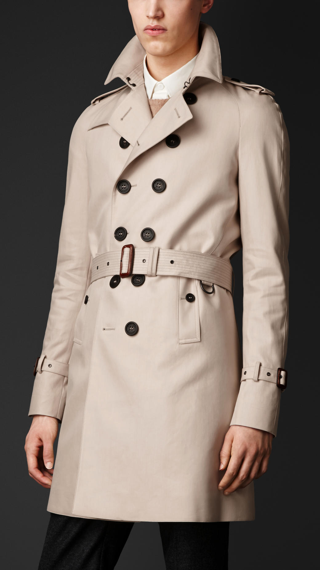 31a5c92c Burberry Burberry Gabardine in Men for Coat Cotton Trench Natural Lyst  rqUCnpr