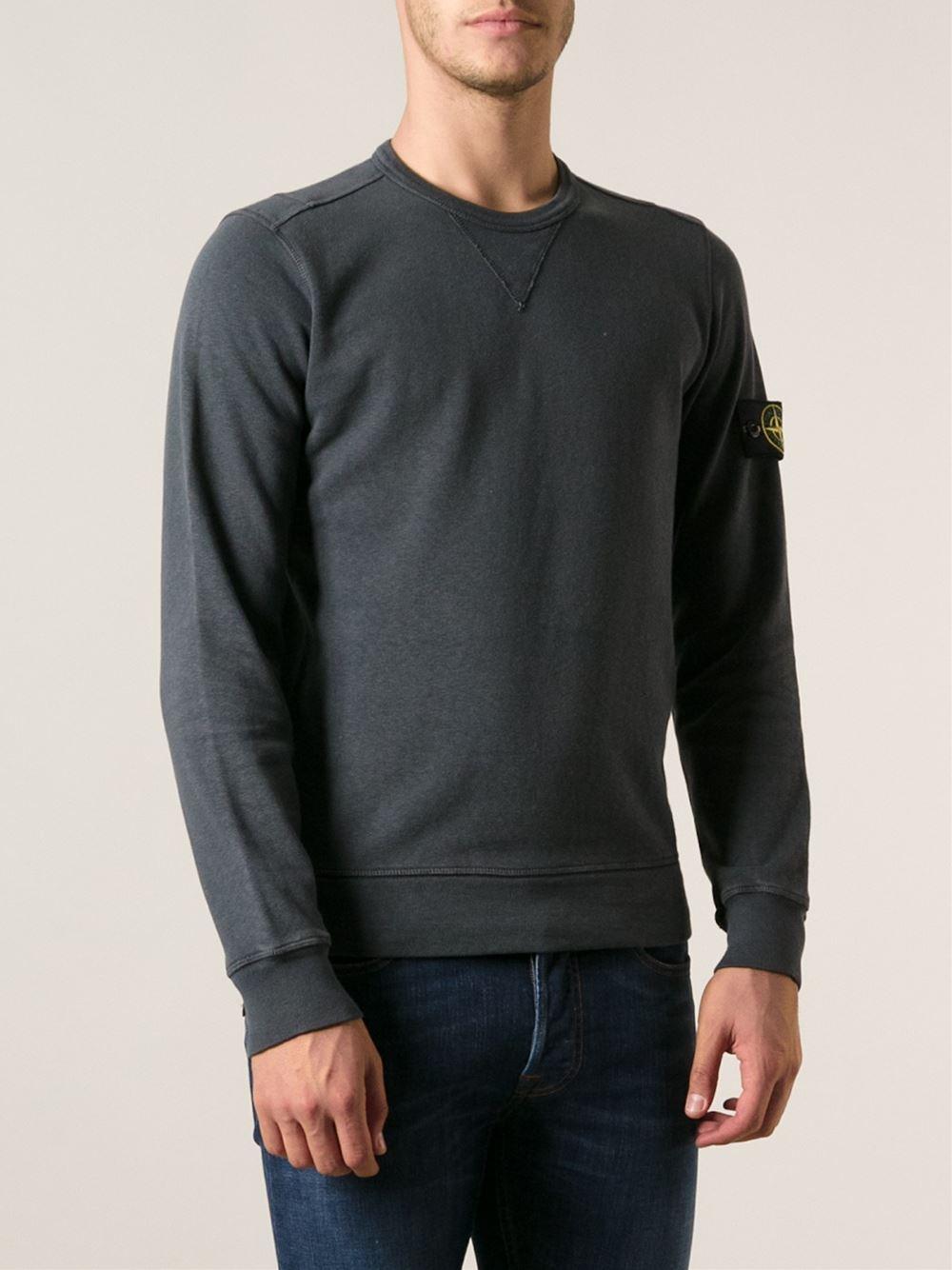 08effc3663e8 Stone Island Grey Crew Neck Sweatshirt