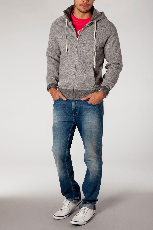 lyst tommy hilfiger renzo hooded sweatshirt in gray for men. Black Bedroom Furniture Sets. Home Design Ideas