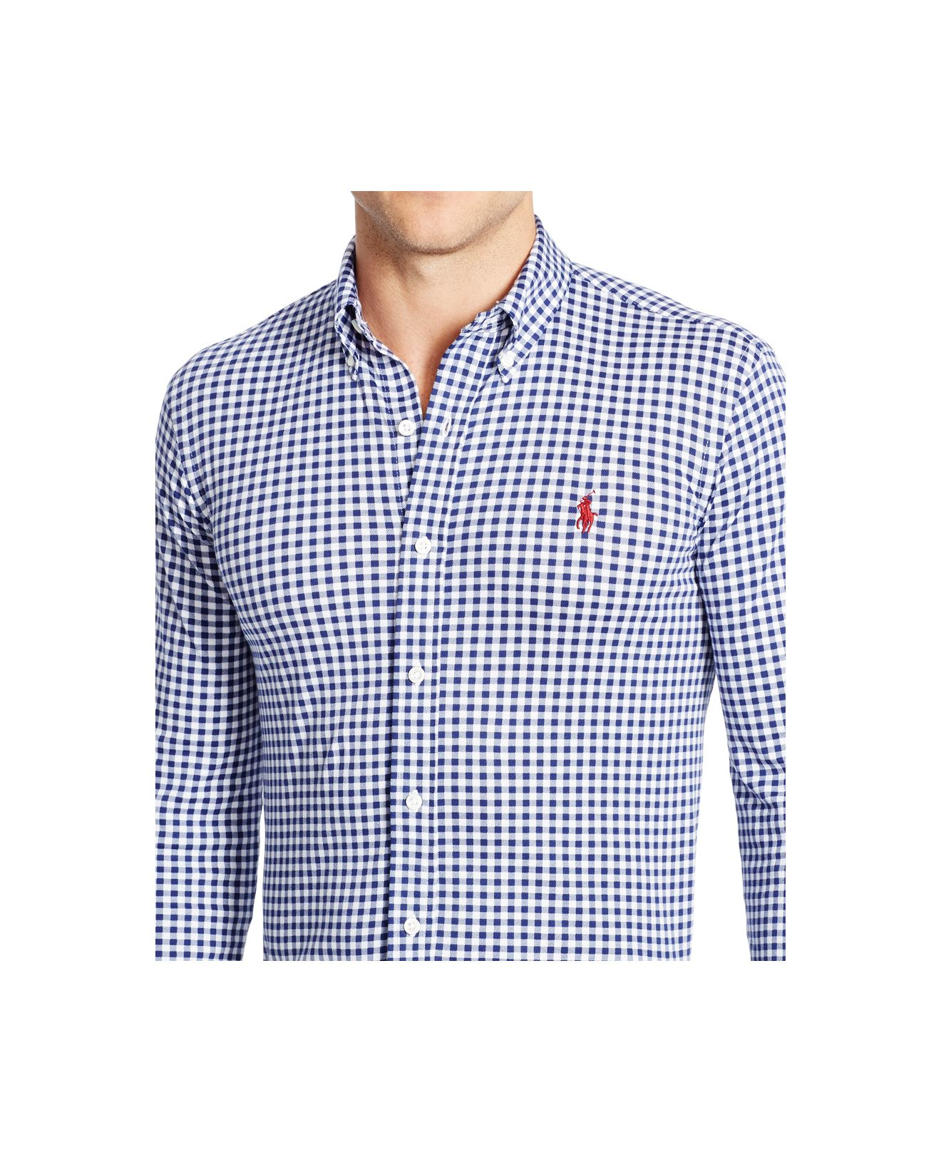 Blue Lauren For Dress Shirt Ralph Polo Men Gingham Knit zUpSMV