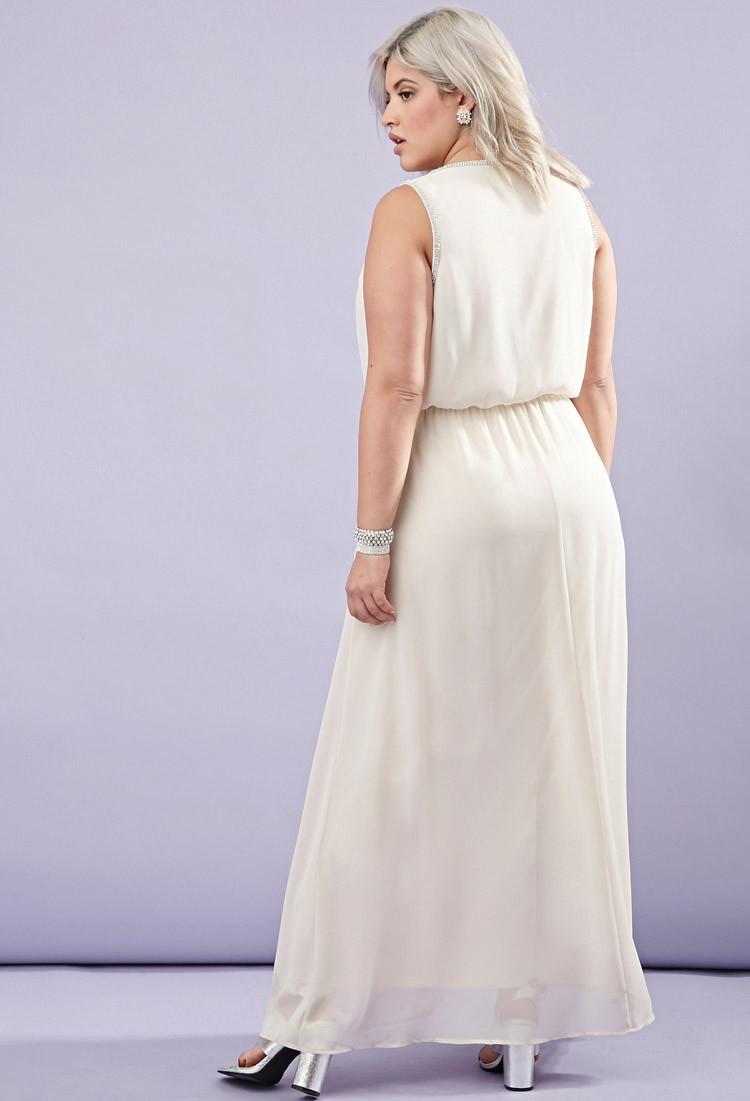 Sheer Lace Maxi Dress Plus Size – DACC