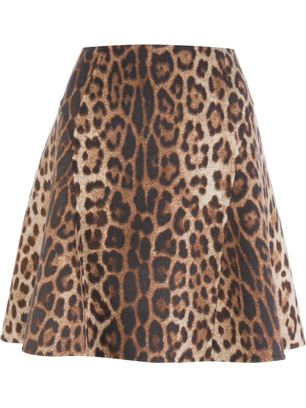 boutique moschino leopard print a line skirt lyst