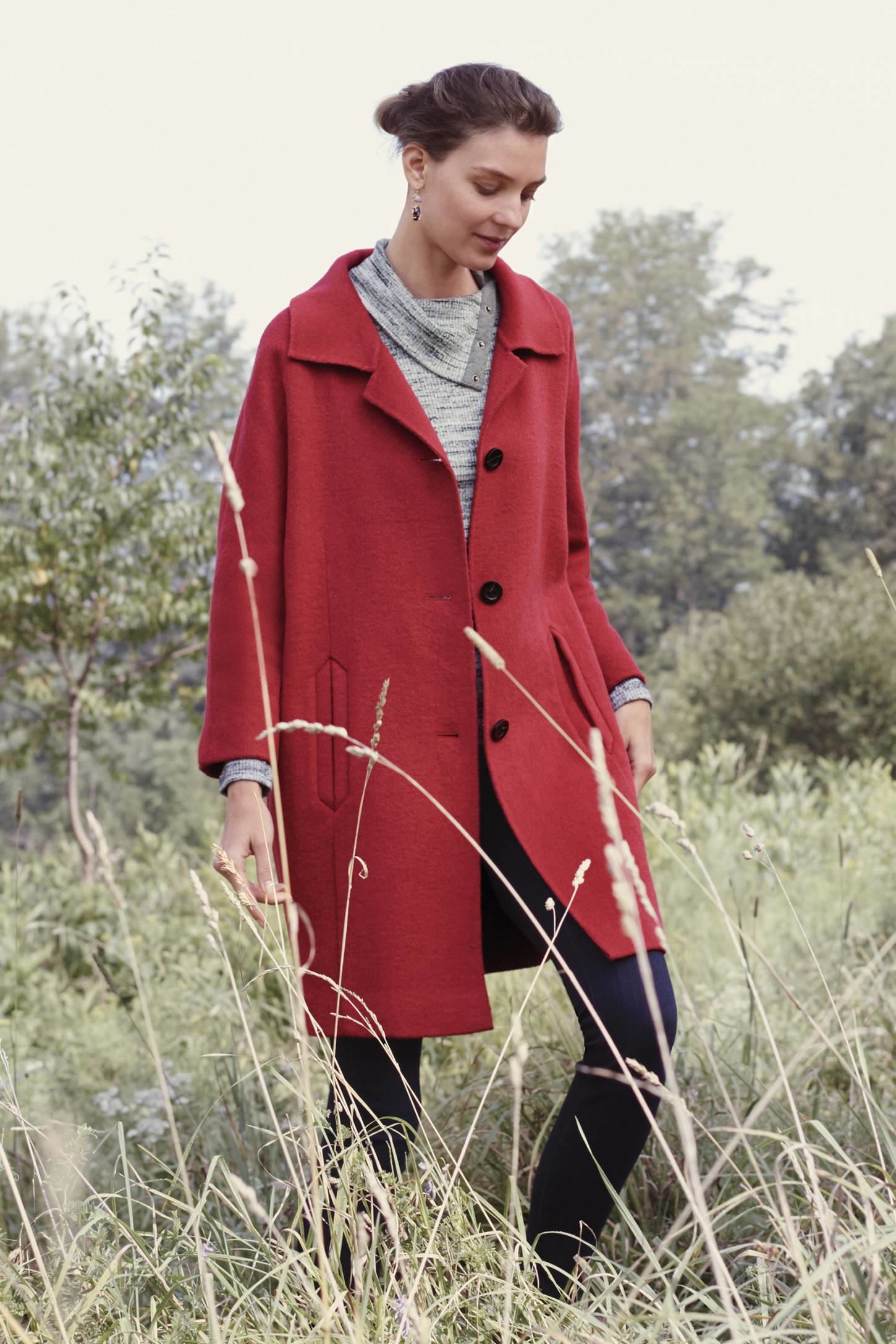 Elevenses Brienne Coat in Red | Lyst