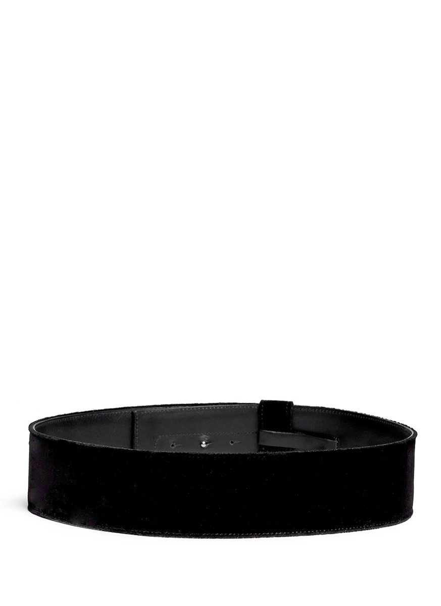 Velvet slim belt Dries Van Noten pBkXY5ORz