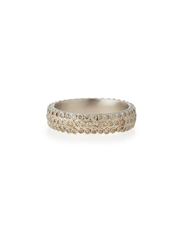 Armenta New World Wide Diamond Stack Ring VHIJqeHSNO