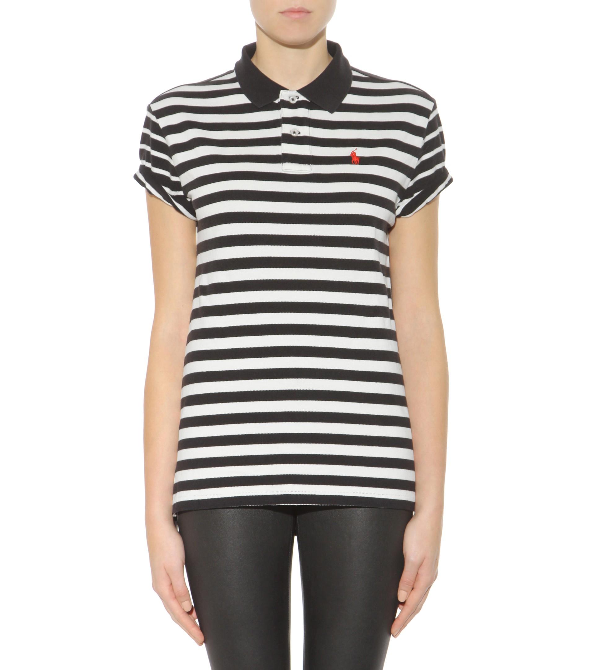 Lyst Polo Ralph Lauren Boyfriend Cotton Polo Shirt In Black