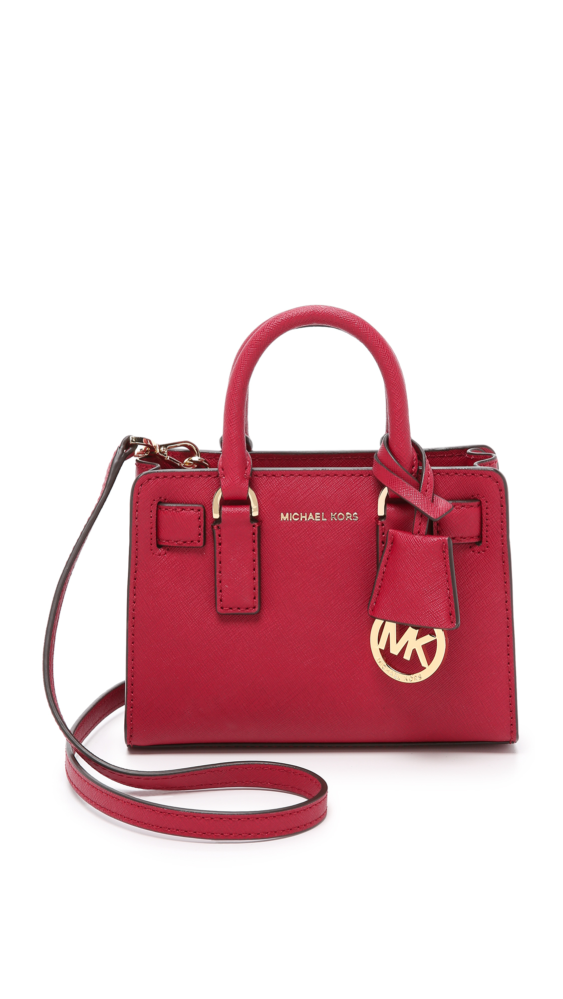 30d230c60c86 ... shopping lyst michael michael kors dillon extra small cross body bag in  red da4c7 c53f9 ...