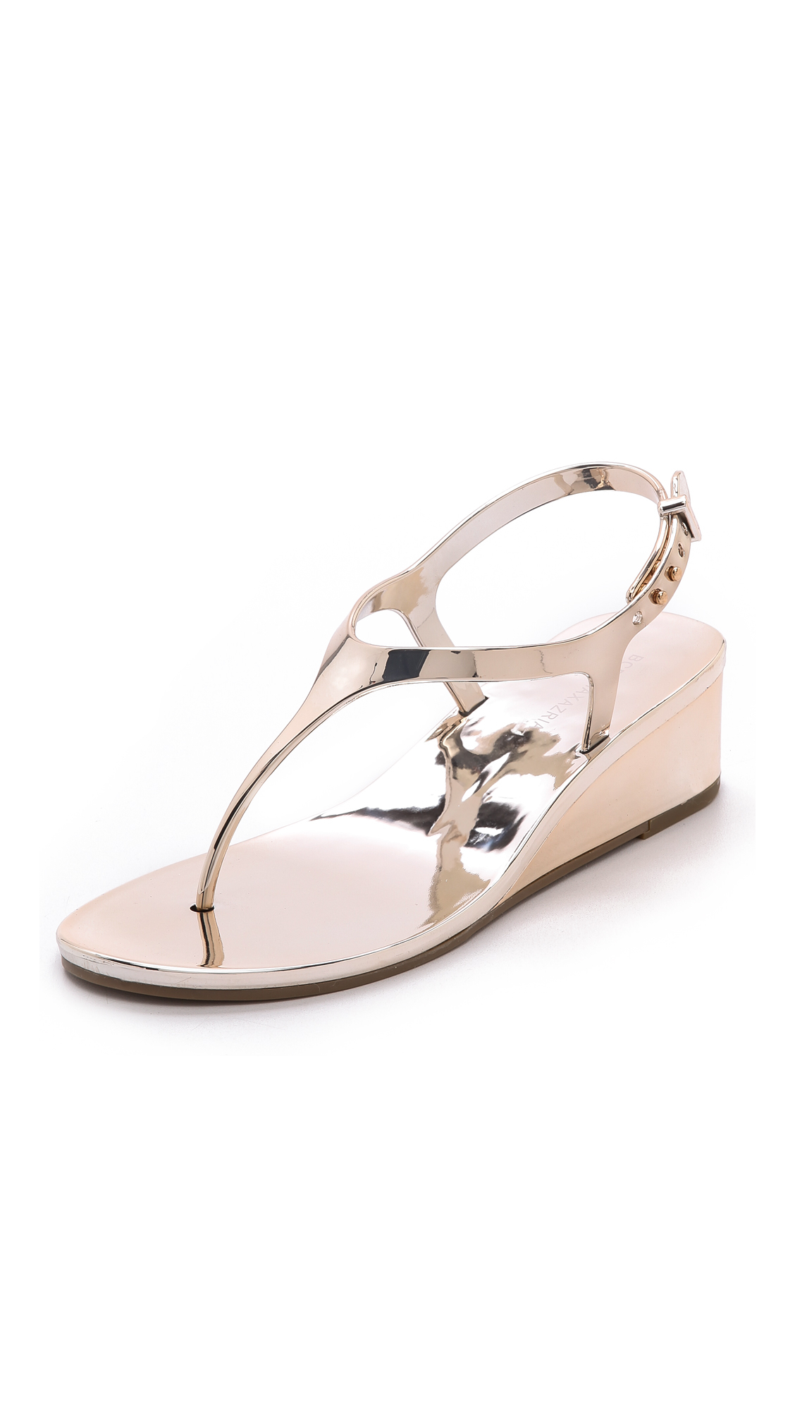 6bd194d99 Lyst - BCBGMAXAZRIA Silva Wedge Jelly Sandals Silver in Pink