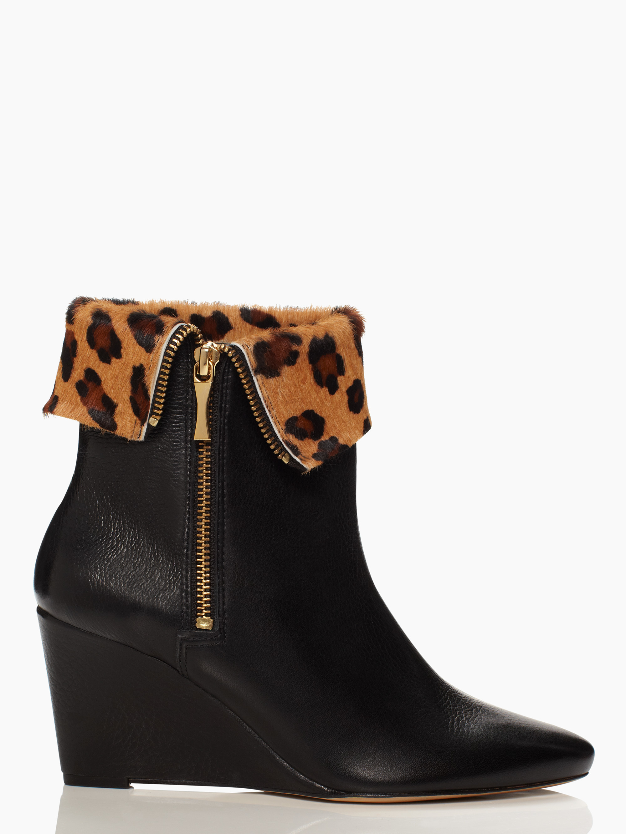 3ec1a960b62d Lyst - Kate Spade Volte Wedge Booties in Black