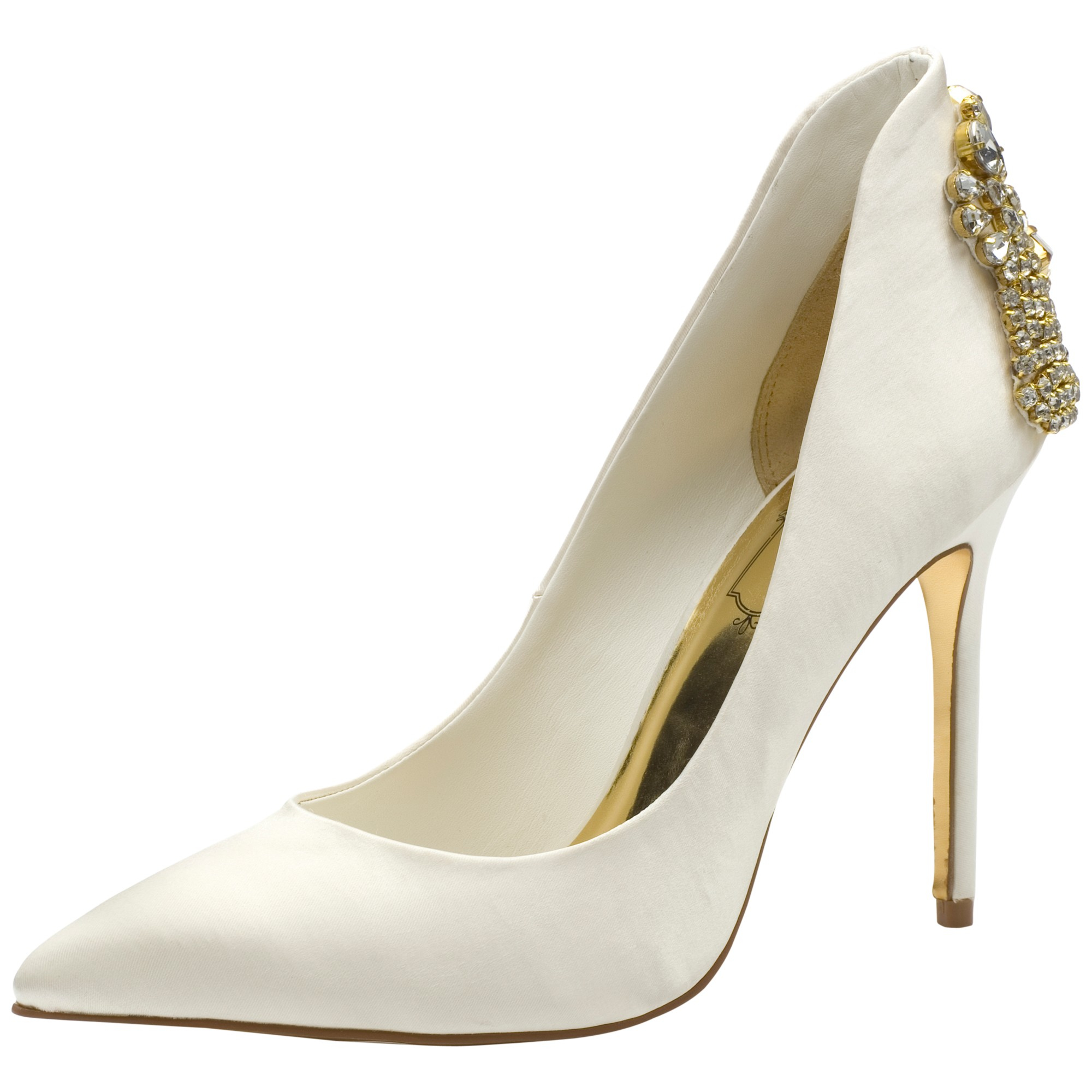 3503f774cb766a Ted Baker Mieon Embellished Court Shoes in Natural - Lyst
