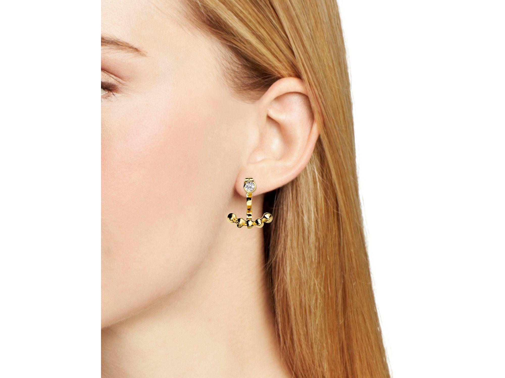 Rebecca Minkoff Front Back Earrings In Metallic Lyst