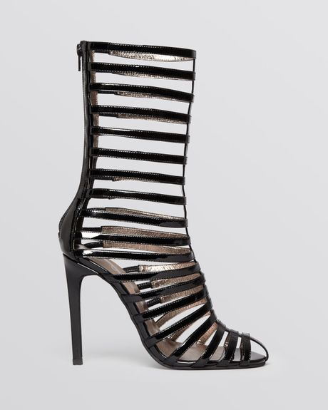 Jeffrey Campbell Tall Sandals Gladiator High Heel In Black
