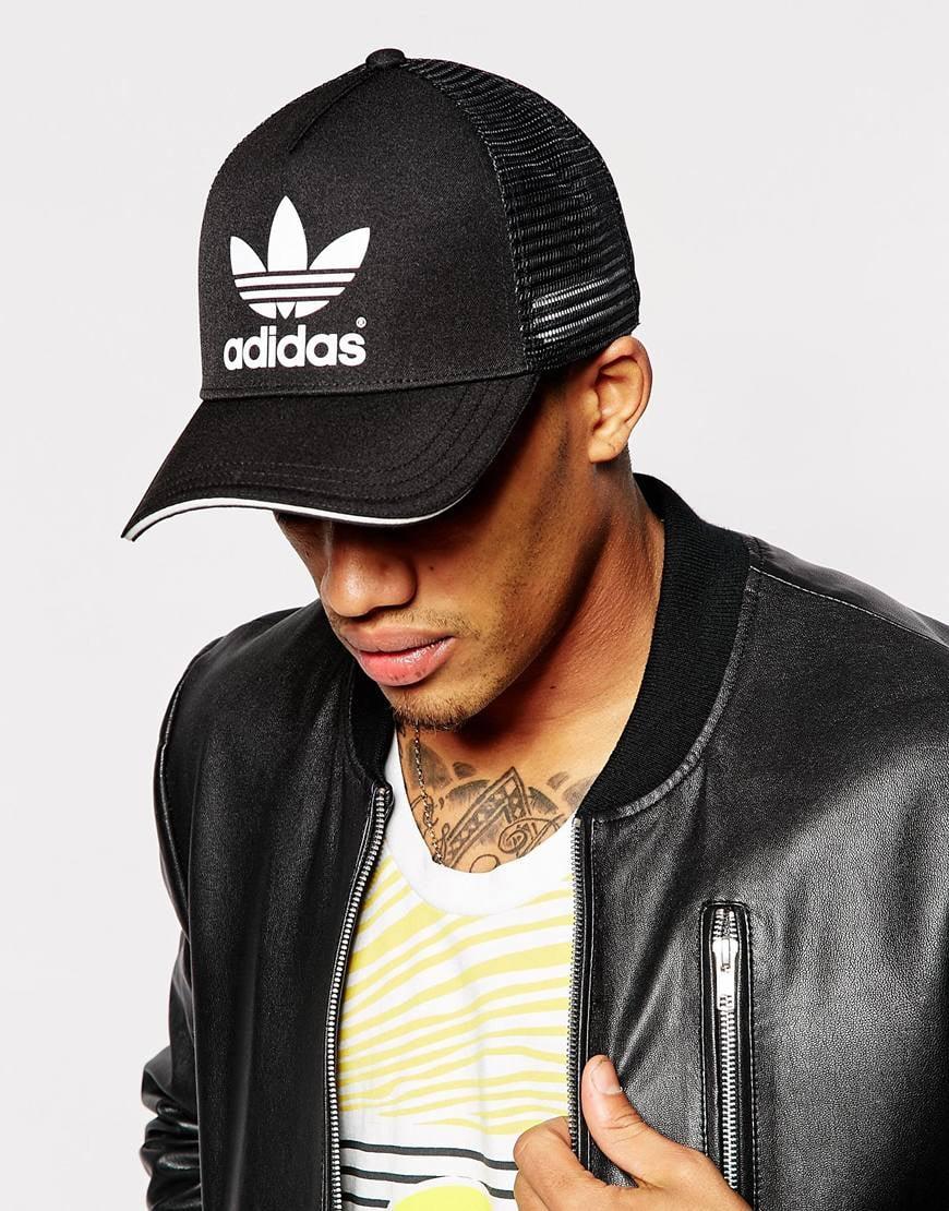 e9a2747d4d5 Lyst - adidas Originals Trucker Cap in Black for Men