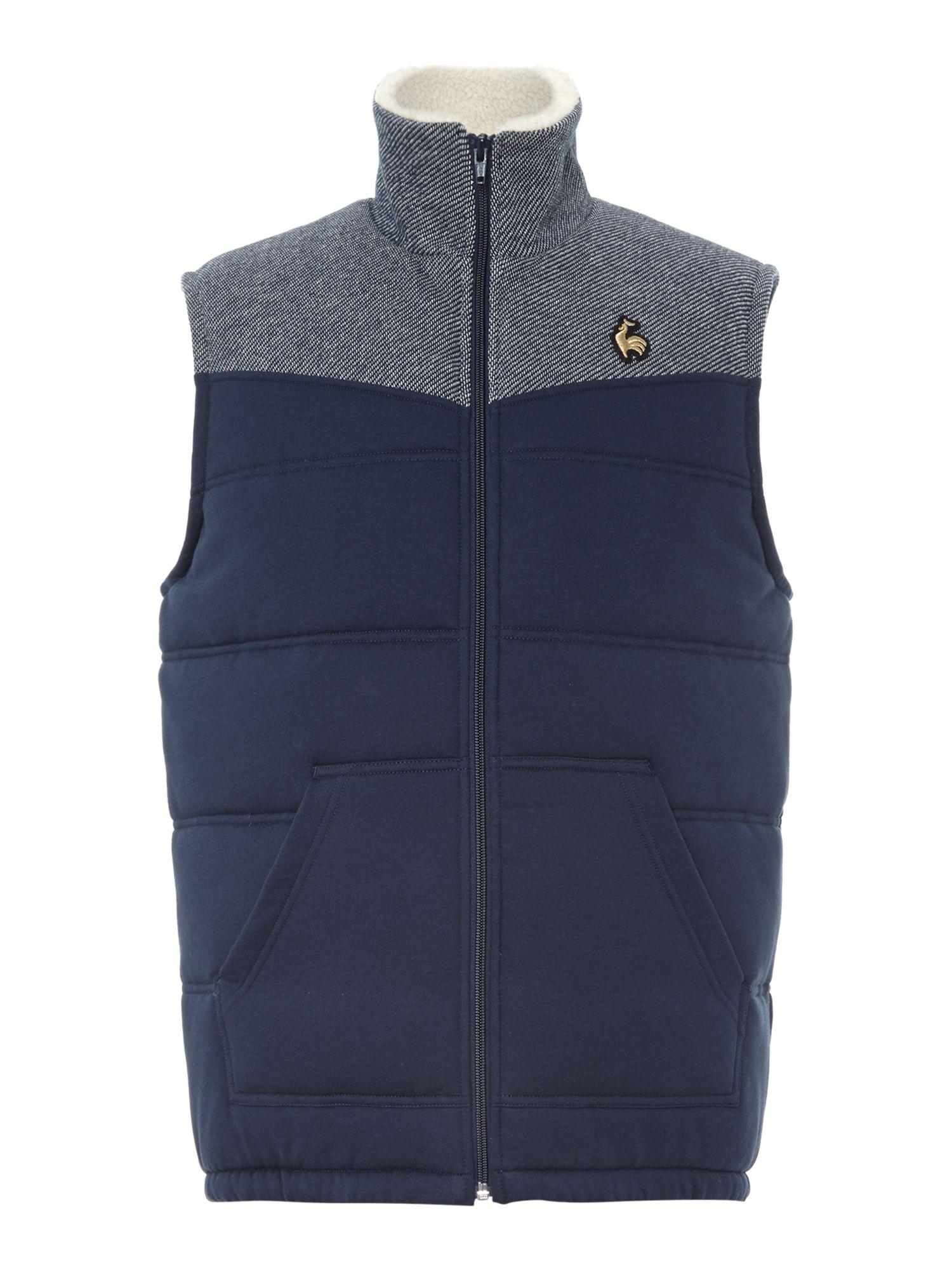 le coq sportif coq d or nugere short sleeve jacket in blue for men lyst. Black Bedroom Furniture Sets. Home Design Ideas