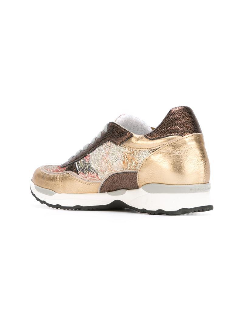 Philippe Model 'city' Brocade Sneakers in Metallic