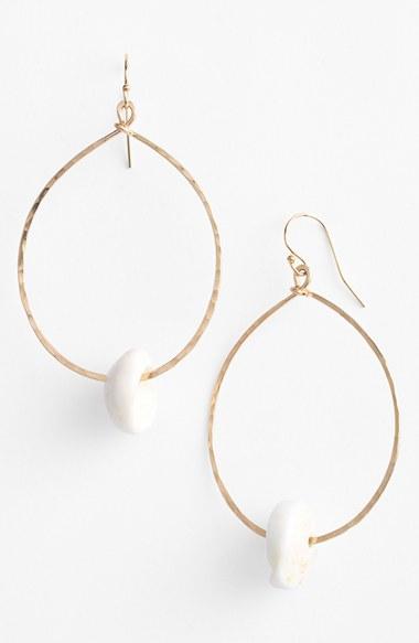 ki ele makapu u puka teardrop earrings in metallic lyst