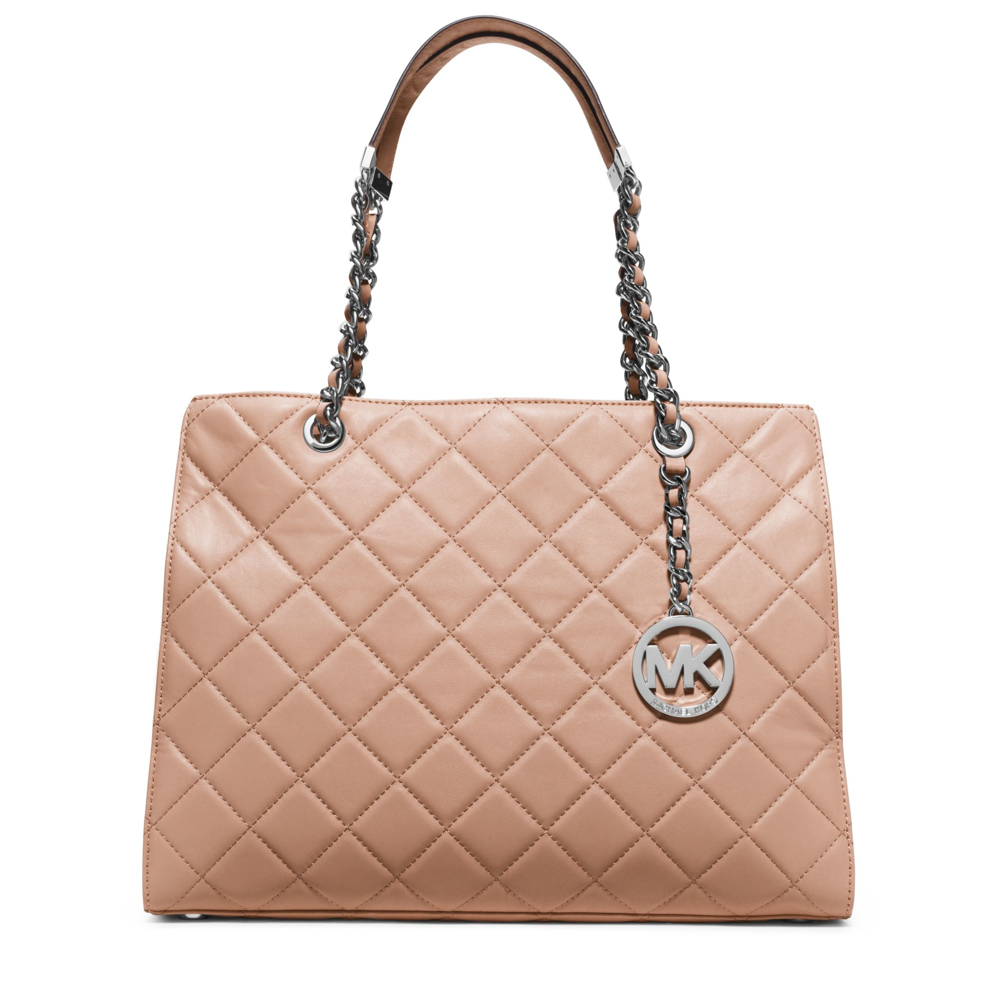 Michael kors Susannah Large Quilted-leather Tote in Brown ...