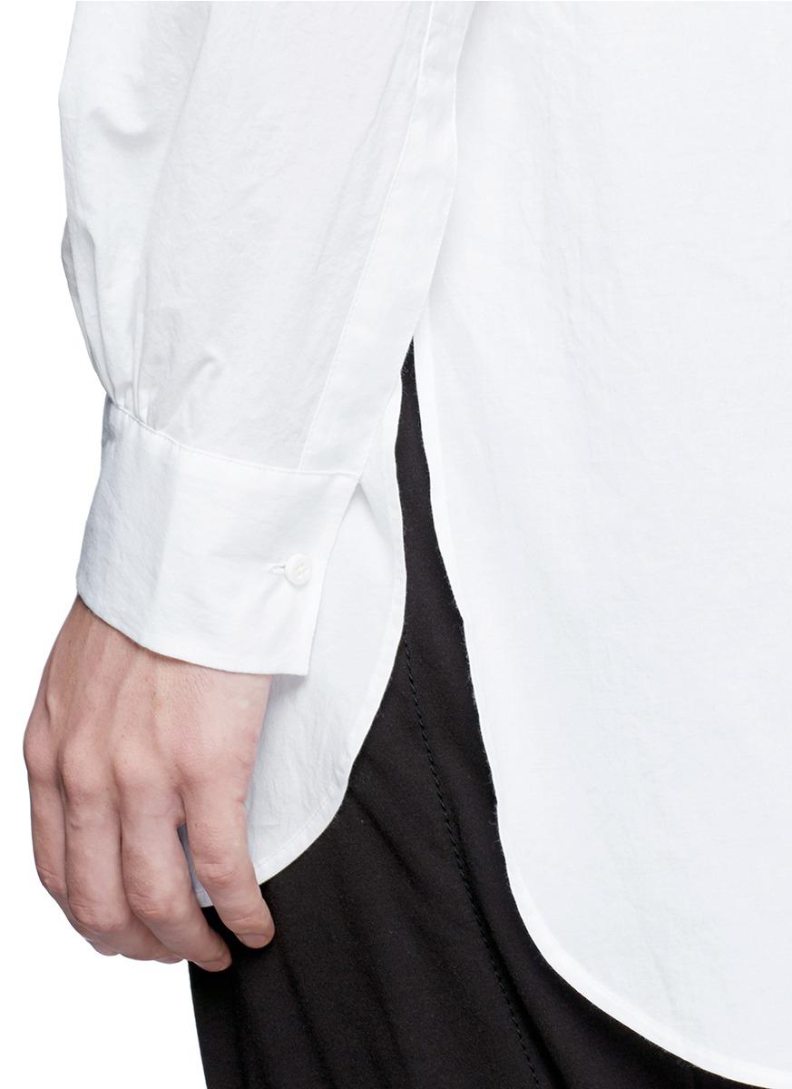 Uma wang Bib Front Tuxedo Shirt in White for Men
