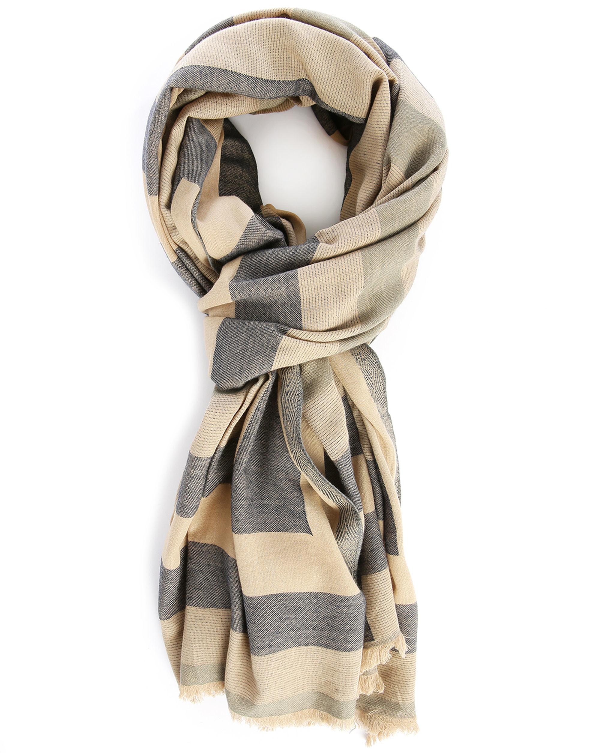 closed beige black scarf in for lyst