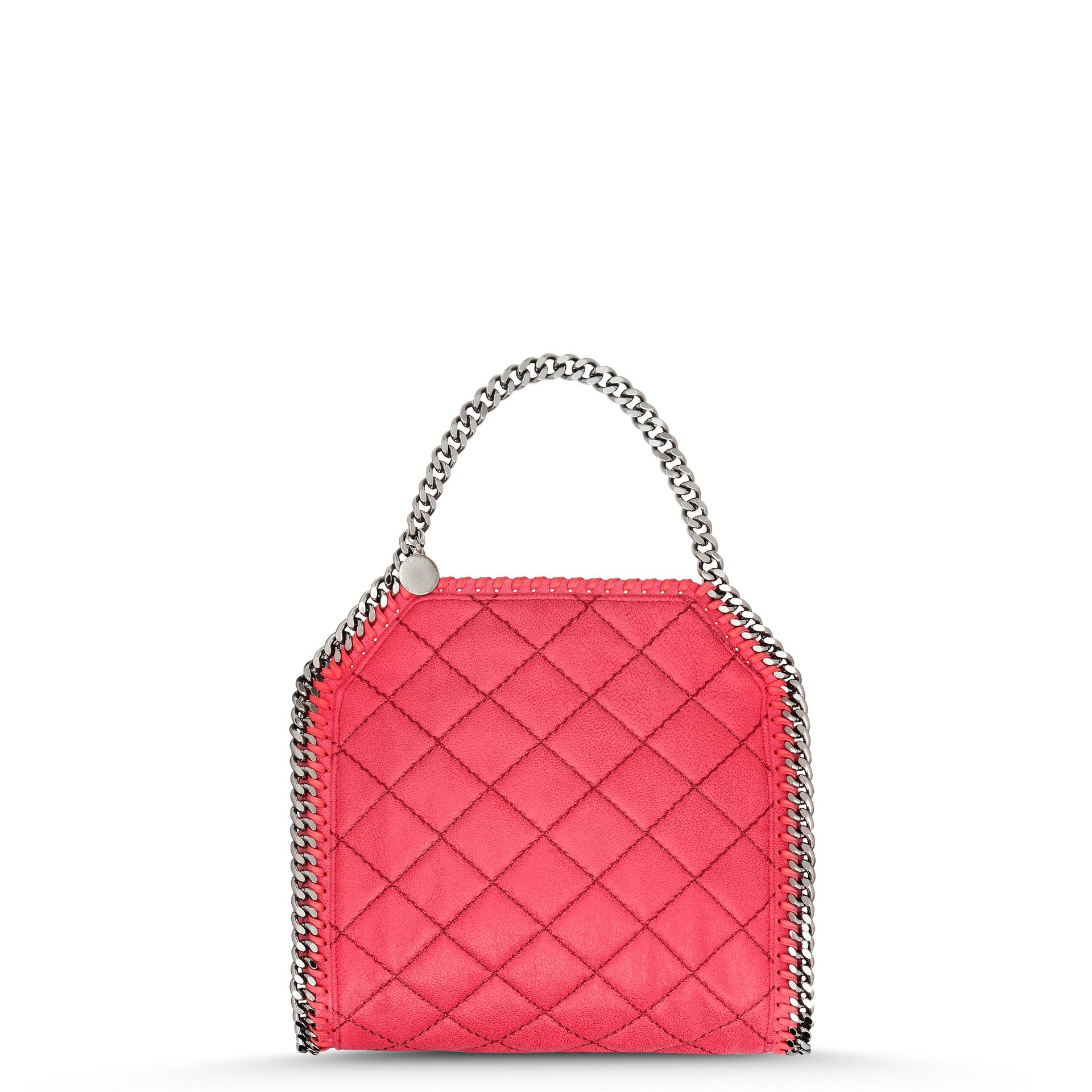 f629ce62f9bdc Lyst - Stella McCartney Pink Fluo Falabella Quilted Mini Tote in Pink