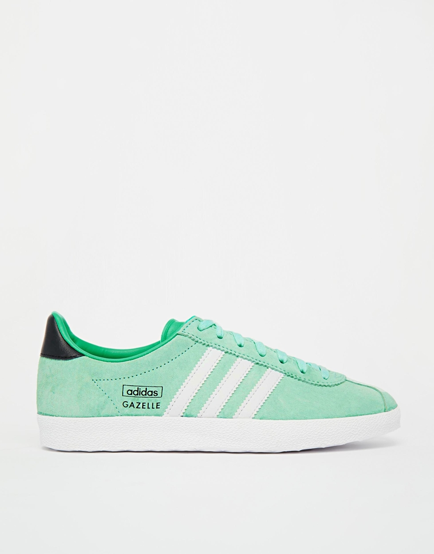 adidas gazelle zest green