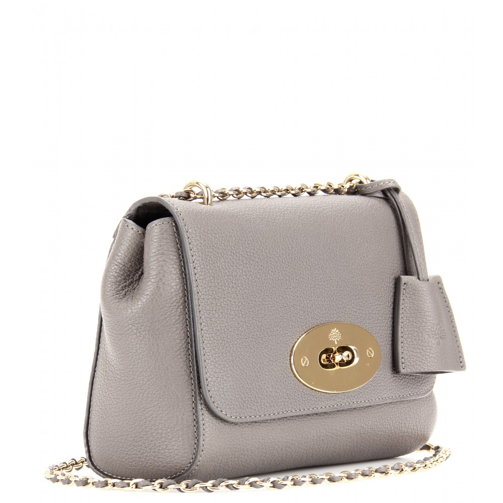 ... low price lyst mulberry medium lily grainy leather shoulder bag in gray  dc297 b581c e74e5496ee79b
