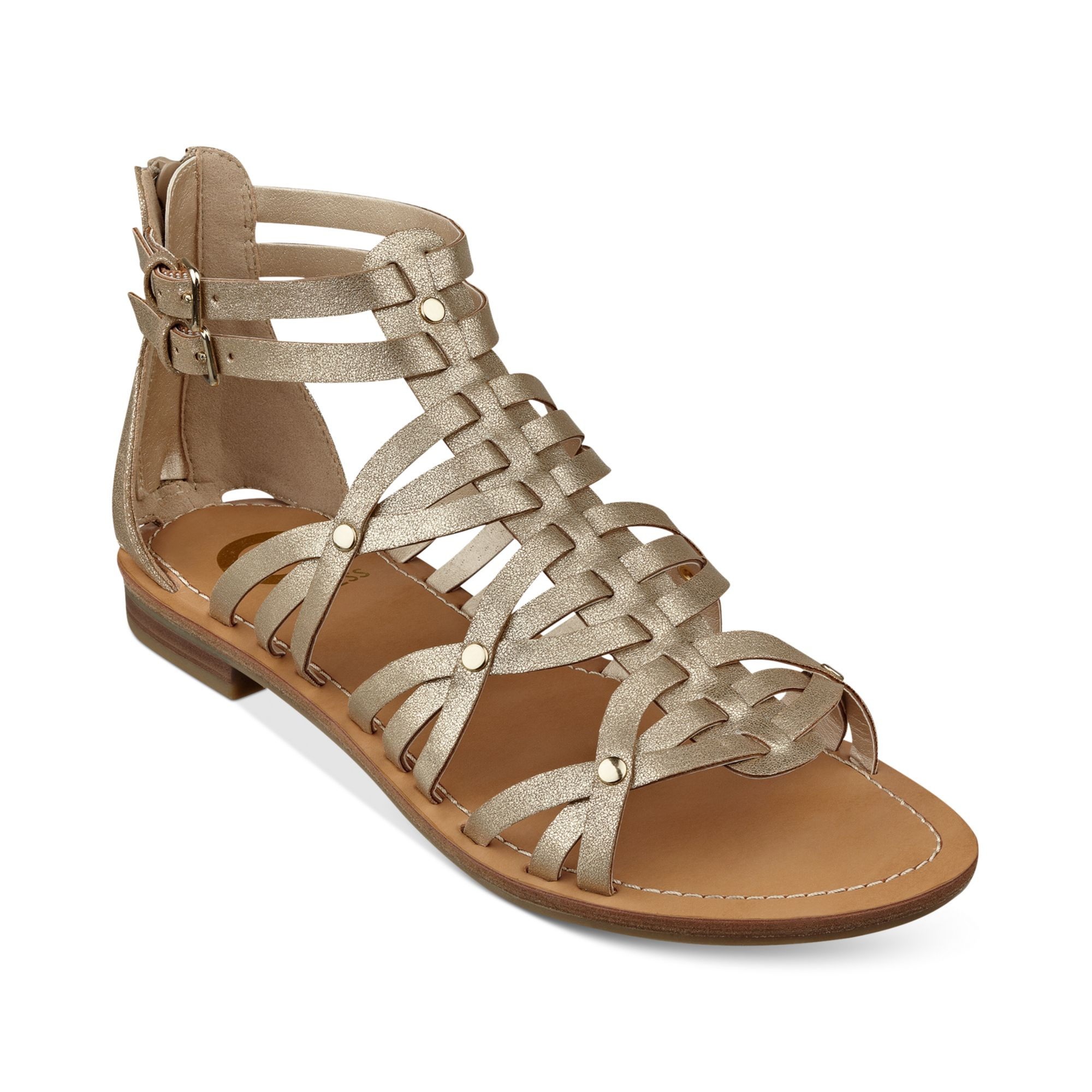 G By Guess Hendal Gladiator Sandals In Gold Lyst