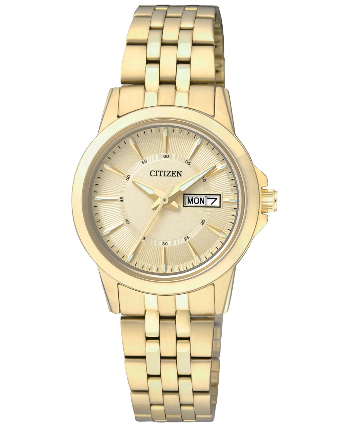 Citizen Women's Gold-tone Stainless Steel Bracelet Watch ...