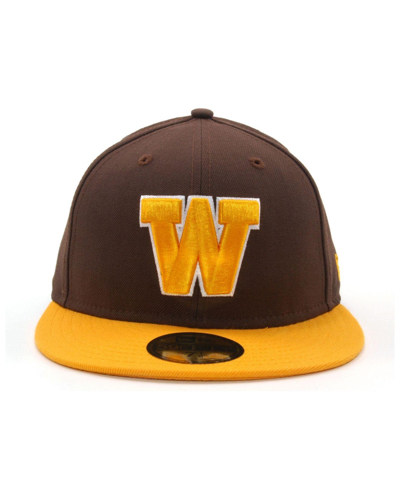 KTZ Brown Wyoming Cowboys 2 Tone 59fifty Cap for men