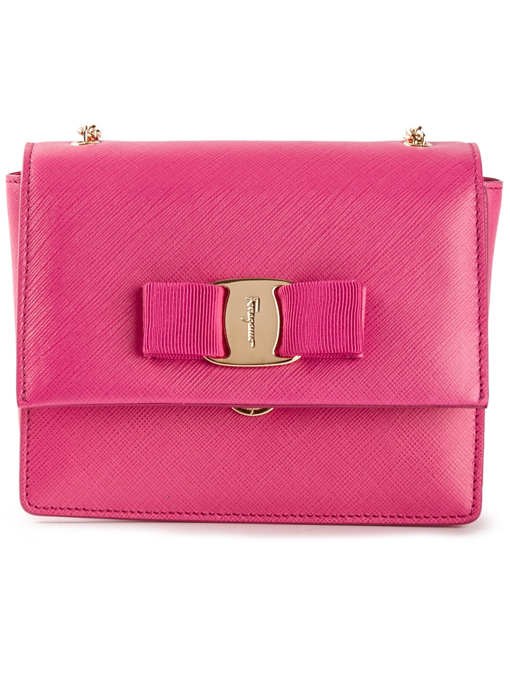 f836ad7e3a64 Ferragamo Ginny Shoulder Bag in Pink - Lyst