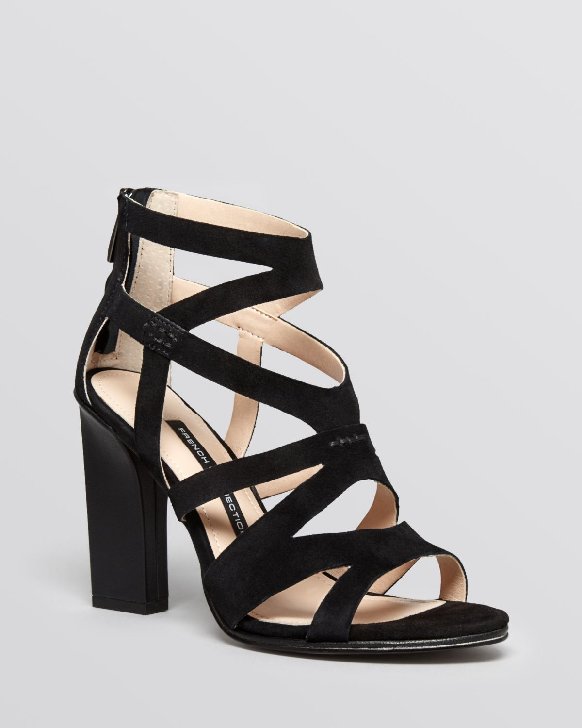 Lyst French Connection Open Toe Caged Sandals Isla
