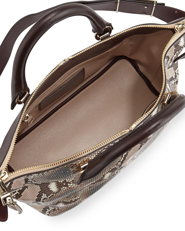 Chlo¨¦ Baylee Medium Python Shoulder Bag in Animal (pink)   Lyst