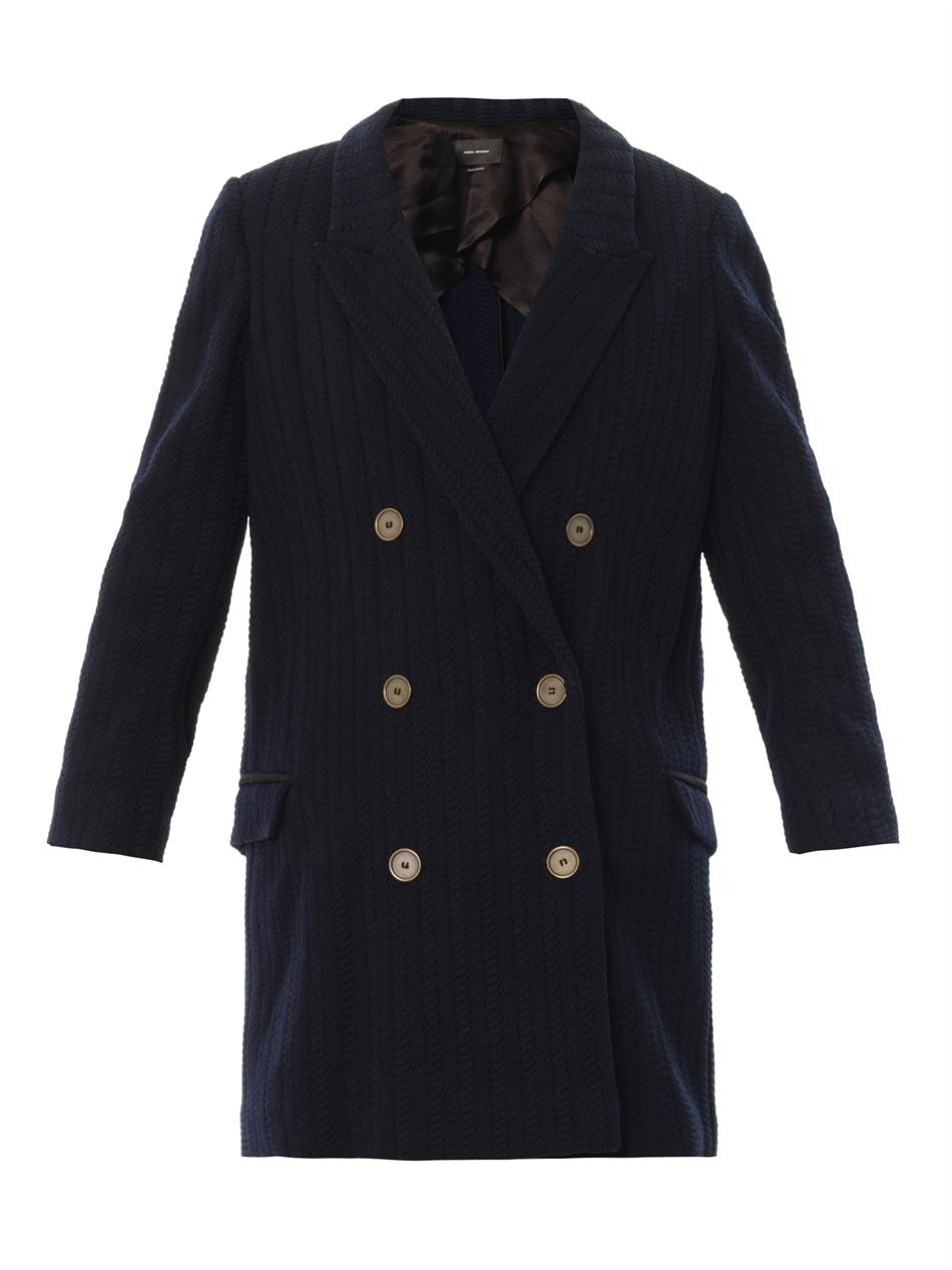 Isabel marant Ellery Double-breasted Coat in Blue | Lyst