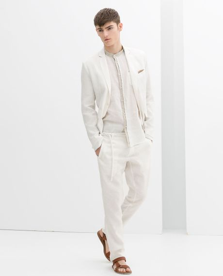 Drawstring Pants For Men Men Zara Drawstring Linen