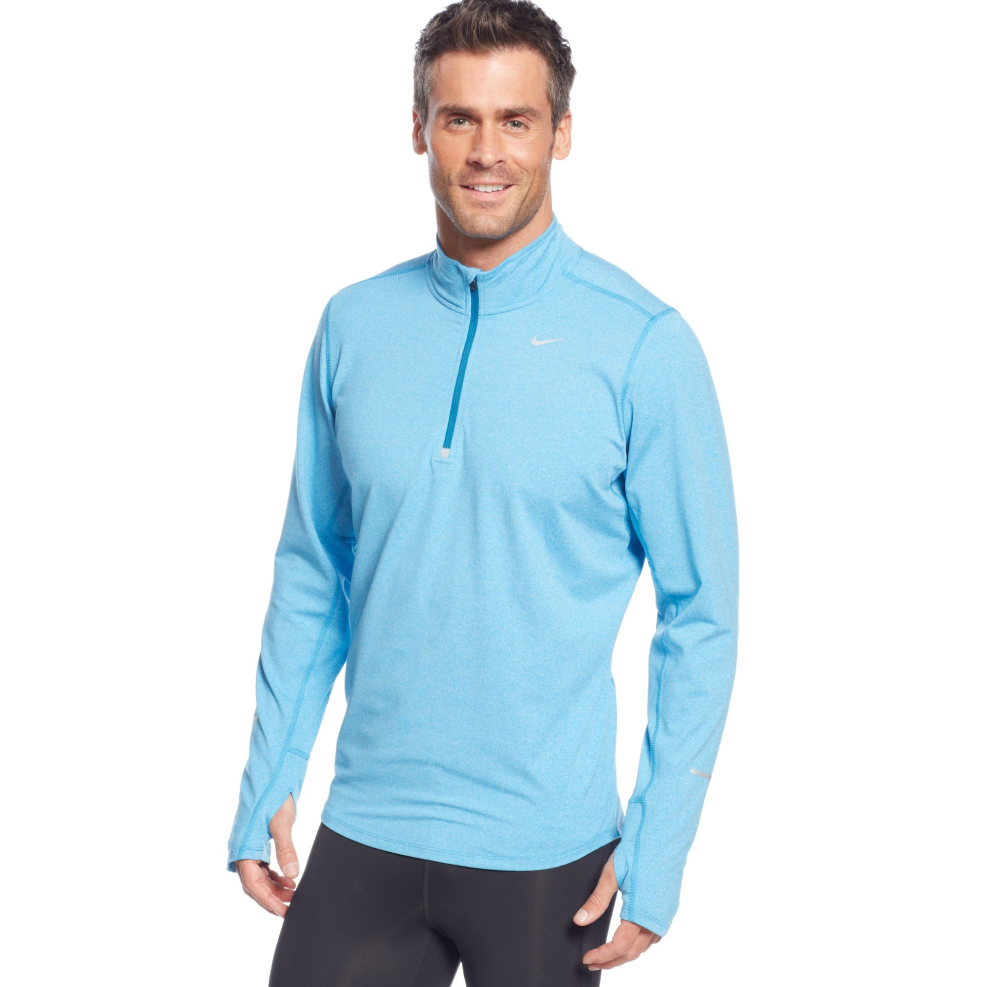 119a9466c6249 Nike Blue Pullover Element Half Zip Shirt for men