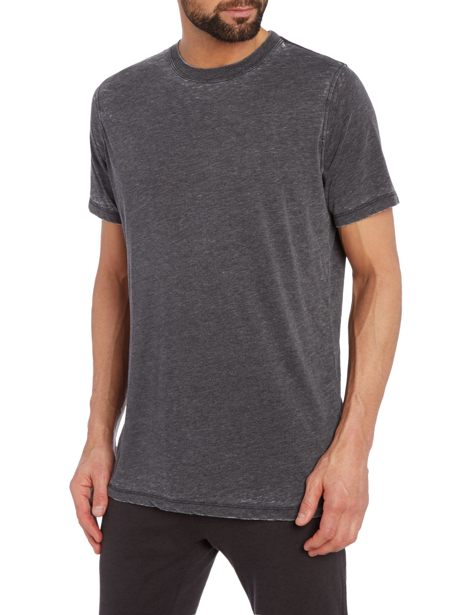 Acid Wash Black T Shirt