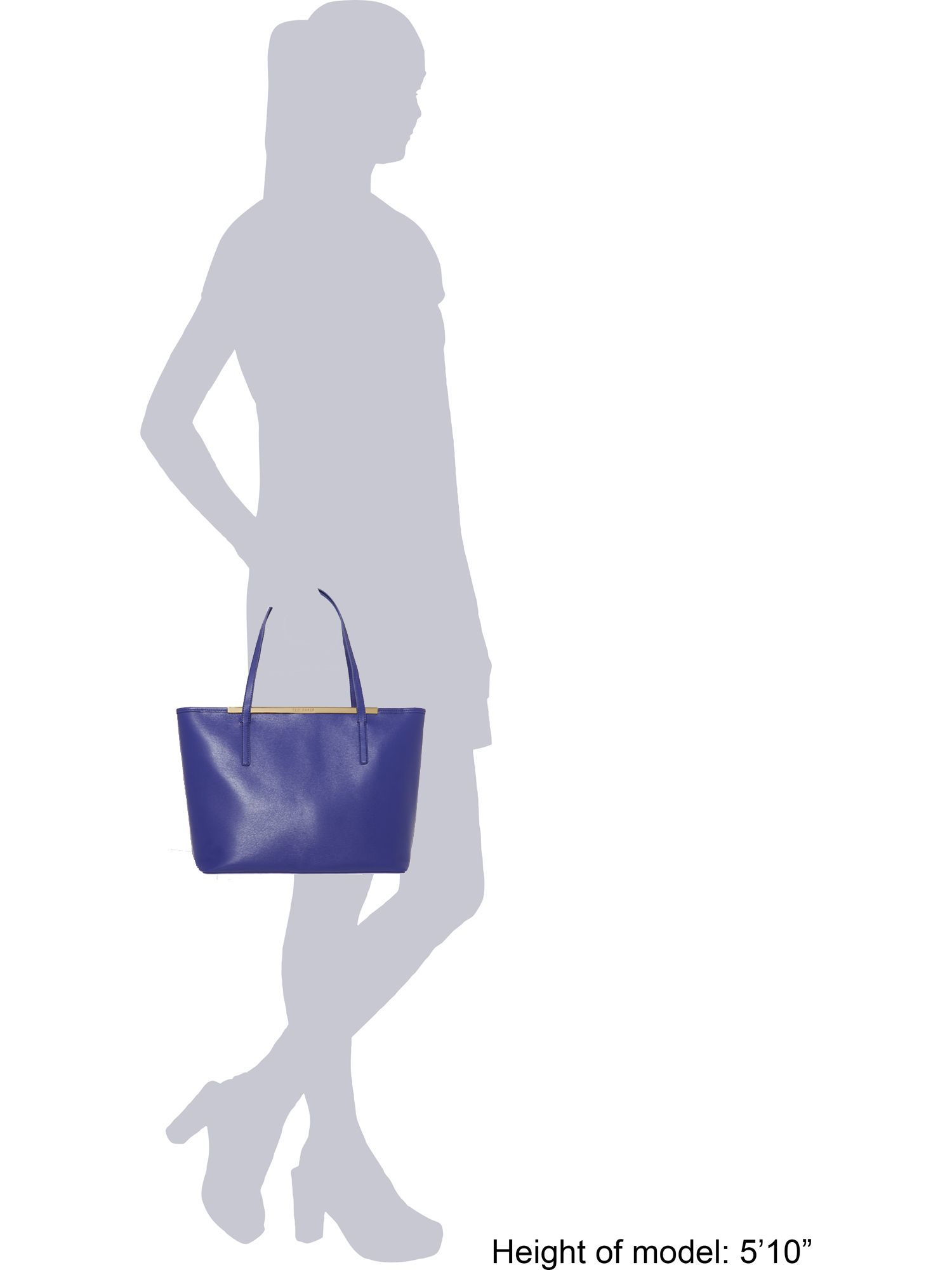Ted Baker Isbellz Blue Top Zip Large Tote Bag With Pouch