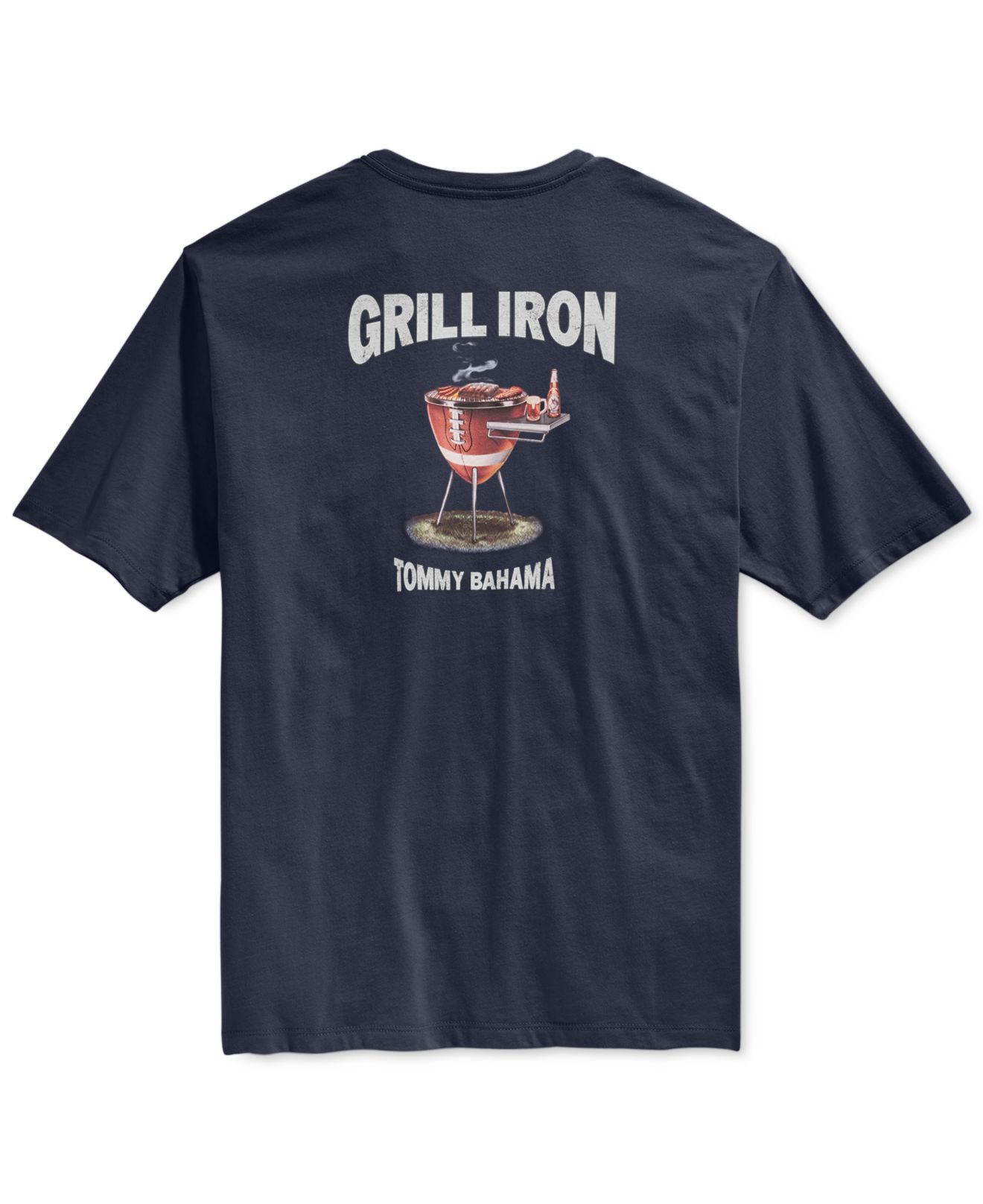 Tommy Bahama Grill Iron Graphic Print T Shirt In Blue For