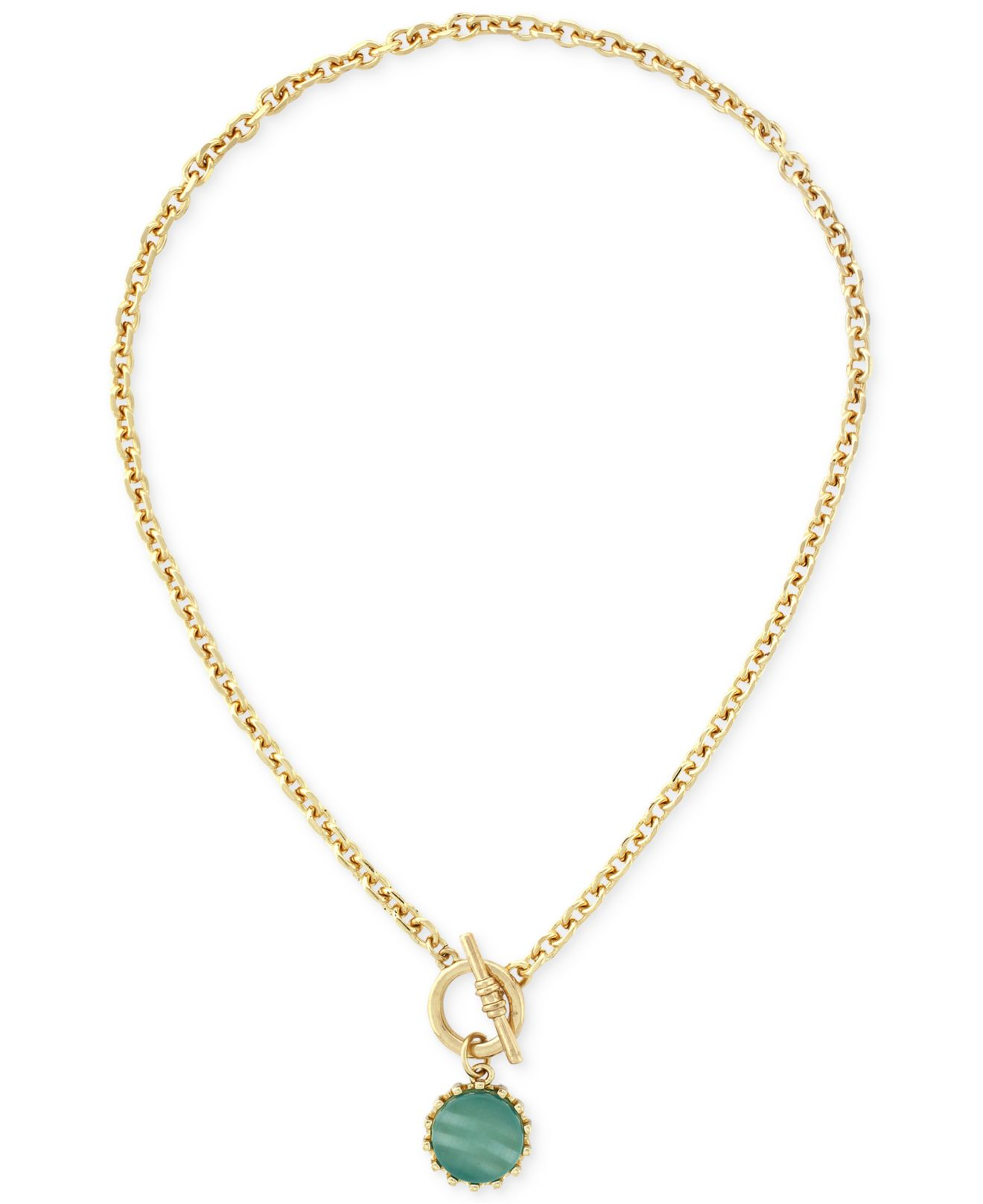 BCBGeneration Chain-Link Stone Necklace WU7bsMf6Wv