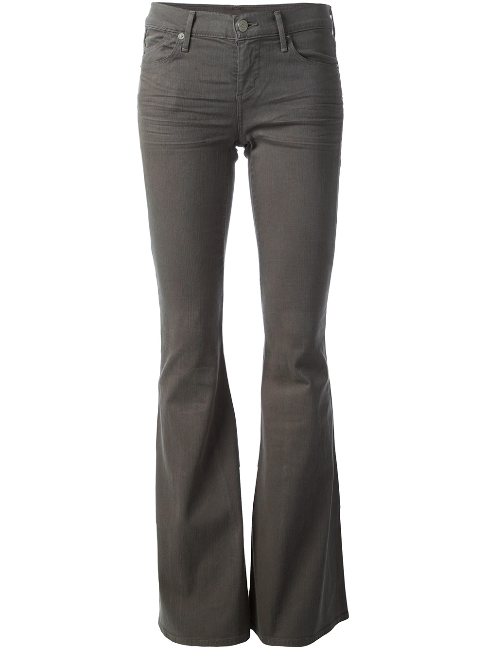 Citizens of humanity Skinny Flared Jeans in Gray | Lyst