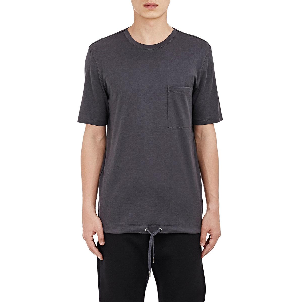 helmut lang men 39 s drawstring waist jersey t shirt in black. Black Bedroom Furniture Sets. Home Design Ideas