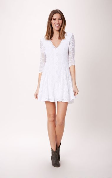 Nightcap Fit N Flare Lace Dress In White Lyst