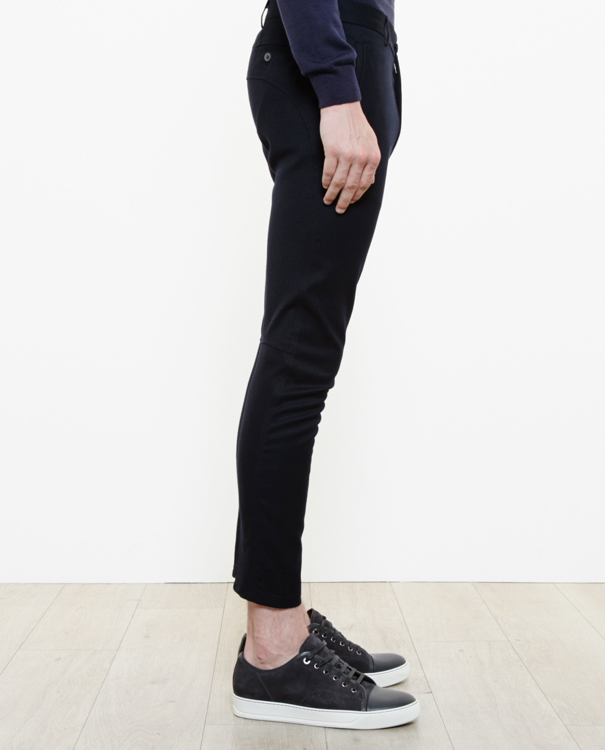 Lanvin Wool-cashmere Biker Trousers in Navy (Blue) for Men