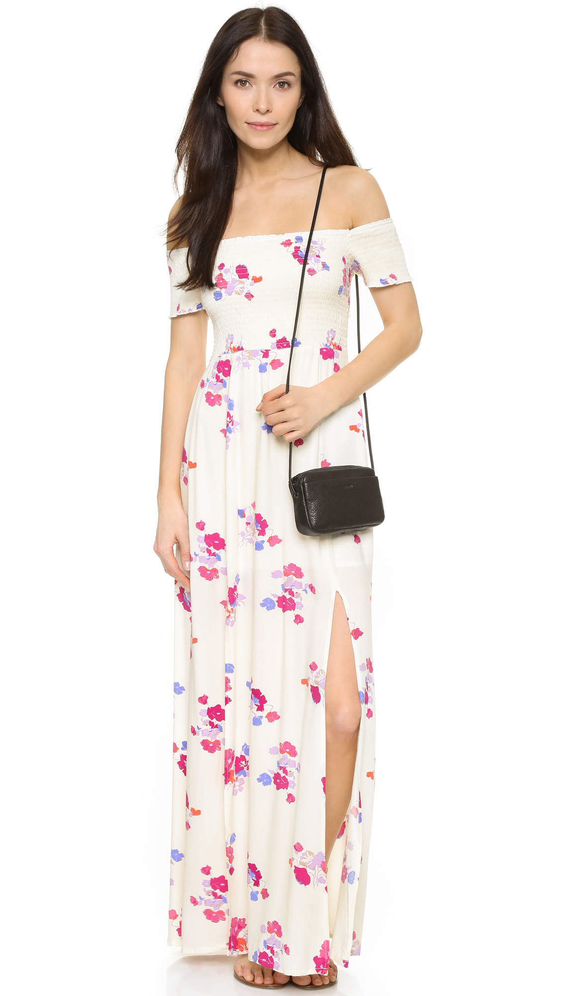 4772f8b6610 Lyst - MINKPINK Off Shoulder Maxi Dress in White