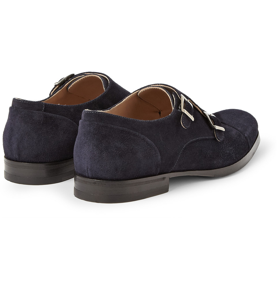 Lyst Mr Hare Suede Double Monkstrap Shoes In Blue For Men