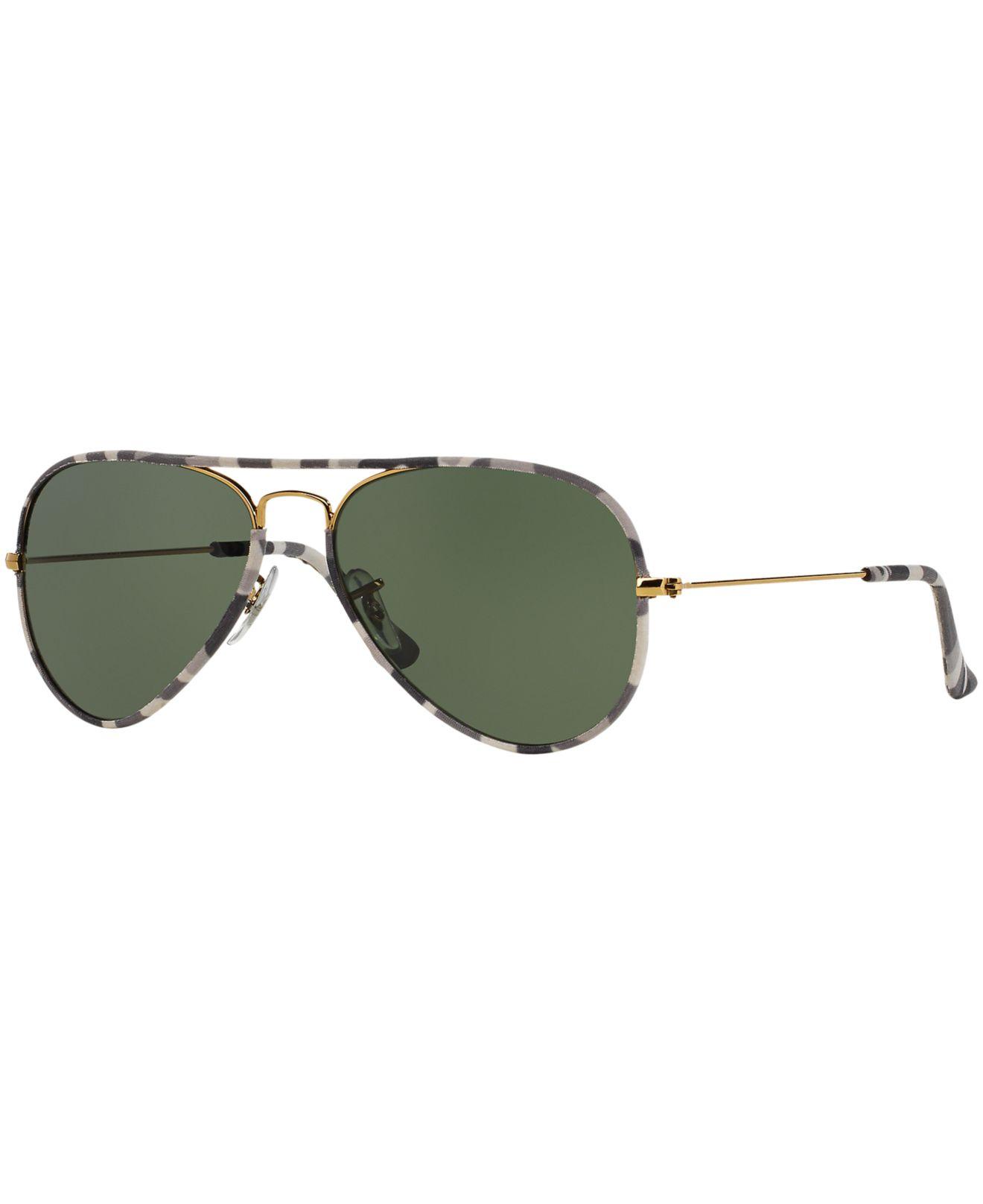 d19e8b01d1 Lyst - Ray-Ban Rb3025jm 58 Aviator Full Color in Green for Men