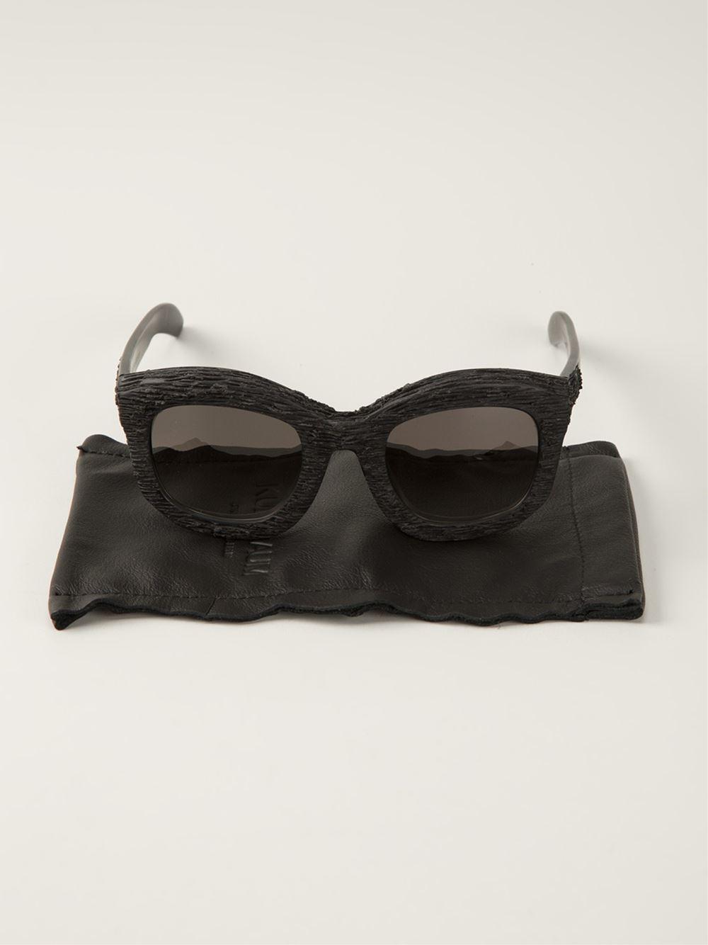 Kuboraum Gradient Lenses Textured Frame Sunglasses in Black for Men