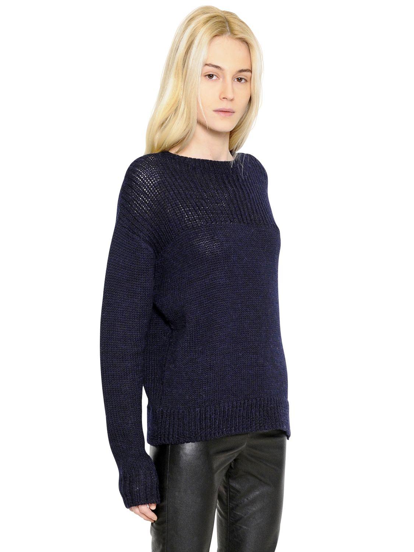 lyst toile isabel marant wool alpaca blend sweater in blue. Black Bedroom Furniture Sets. Home Design Ideas